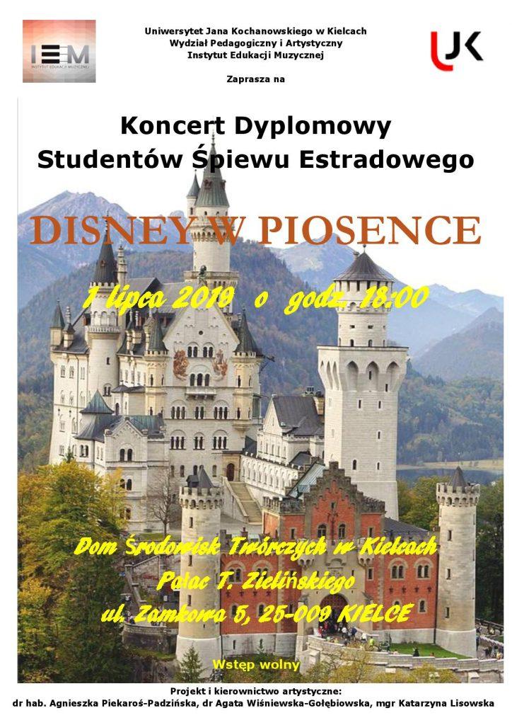 Koncert dyplomowy plakat