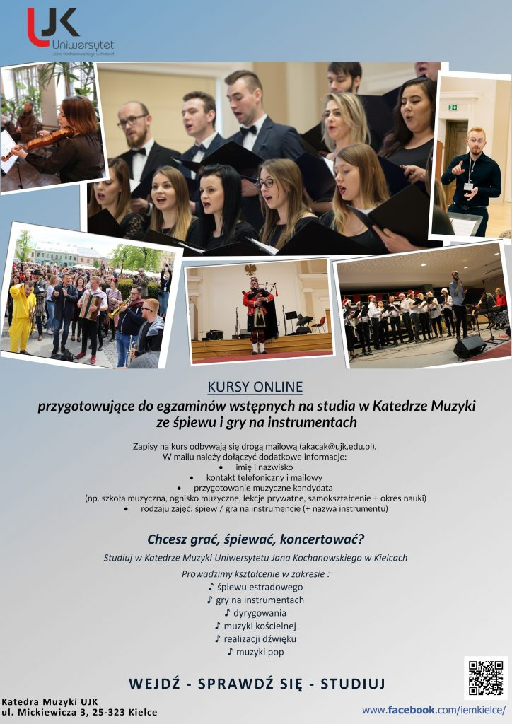 Plakat Kursy online